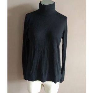 Zara Knit M Modal Wool Blend Turtleneck Sweater